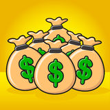 Illustration of money Stock Photography
