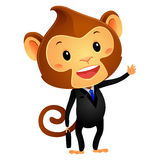 Illustration of Monkey in Business Attire Stock Photography