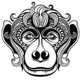Illustration of a monkey Royalty Free Stock Images