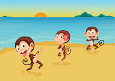 Cheeky monkeys Stock Image