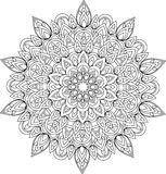 Illustration monochrome de mandala d'ensemble de vecteur Photo libre de droits