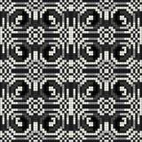 Illustration monochrome de vecteur de pixels de beau modèle sans couture Photos stock