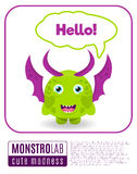 Illustration of a monster saying hello Stock Image