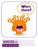 Illustration of a monster saying whos there Royalty Free Stock Photo