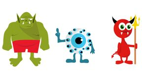 Illustration of a monsters Stock Photos