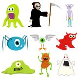 Illustration of monsters Royalty Free Stock Photos