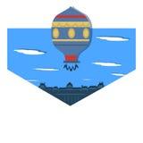 Illustration Montgolfier`s Flying Balloon Stock Photos