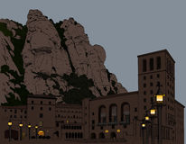 Illustration Montserrat Monastery Royalty Free Stock Image