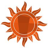 Mosaic sun symbol. This is an illustration of Mosaic sun symbol Royalty Free Stock Photos