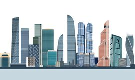 Vector illustration of Moscow city skyline Royalty Free Illustration