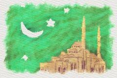 Illustration mosque Stock Photos