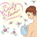 Illustration of mother and child. Royalty Free Stock Image