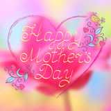 Illustration of mother's day card Stock Photography
