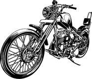 Illustration of the motorcycle. I made a motorcycle a vector work Stock Photo