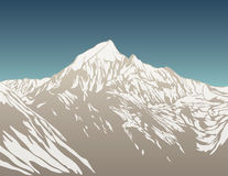 Illustration of mountain Royalty Free Stock Photo
