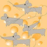 Illustration of mouse and cheese Stock Photo