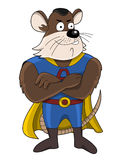 Superhero mouse cartoon Stock Photo