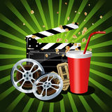 Illustration of  movie theme objects Stock Photography