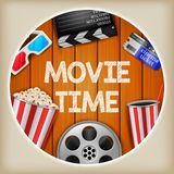 Movie time illustration stock illustration