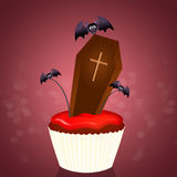 Muffin for Halloween. Illustration of Muffin for Halloween Stock Images