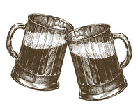 Illustration. mug of beer on a white background Royalty Free Stock Images