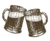 Illustration. mug of beer on a white background Royalty Free Stock Images