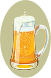 Illustration of a mug full of cold beer Stock Photography