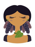 Illustration of mulberry character Royalty Free Stock Photography