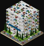 Illustration of a multi storey car park. Royalty Free Stock Photo