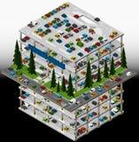 Illustration of a multi storey car park. Stock Photography