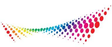 Illustration multicolore tramée de vecteur de fond Images libres de droits