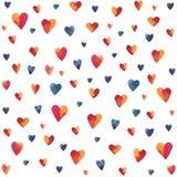 Multicolored hearts Royalty Free Stock Photos