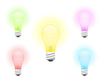 Illustration of multicolored light bulb Stock Photo