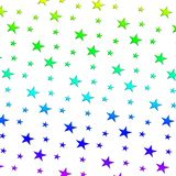 Illustration Multicolored stars pattern raster  Royalty Free Stock Photo