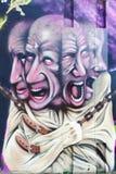 Illustration murale à l'étape dans l'arène à Eindhoven Photographie stock