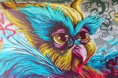 Illustration murale à l'étape dans l'arène à Eindhoven Images libres de droits