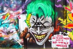Illustration murale à l'étape dans l'arène à Eindhoven Photographie stock libre de droits