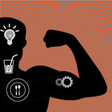 illustration of muscle man Royalty Free Stock Photos
