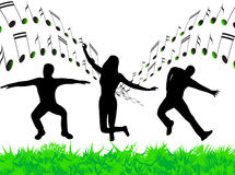 Illustration of music Royalty Free Stock Images