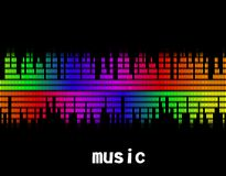 Illustration  of music colorful equaliser bar Stock Photography