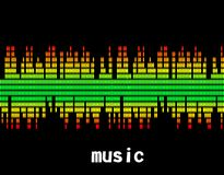 Illustration  of music colorful equaliser bar Royalty Free Stock Images