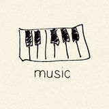 Illustration of a music design Stock Images