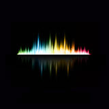 Illustration of music equaliser Stock Photo