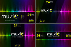 Illustration of music equalizer bar in shiny background Royalty Free Stock Photo