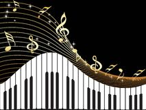 Illustration of music notes, piano Royalty Free Stock Image
