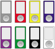 Music player. Illustration of 8 music player models Stock Image