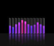 Illustration of music in transparent equaliser bar Stock Images