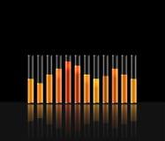 Illustration of music in transparent equaliser bar Stock Image