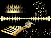 Illustration of musical background Royalty Free Stock Images