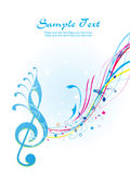 Illustration of musical background Royalty Free Stock Photo